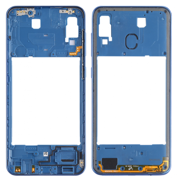 Middle Frame Bezel Plate for Galaxy A30 SM-A305F/DS(Blue)