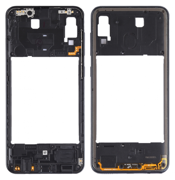 Middle Frame Bezel Plate for Galaxy A30 SM-A305F/DS (Black)
