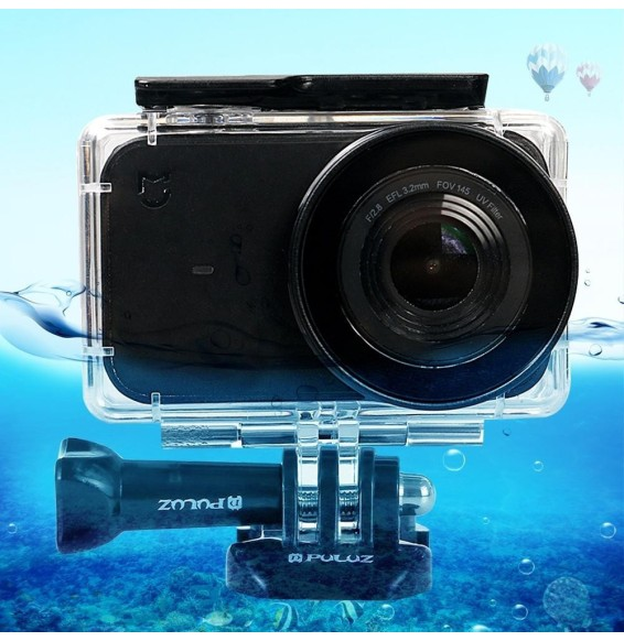 PULUZ 45m Underwater Acrylic Plexiglass Waterproof Housing Diving Case for Xiaomi Mijia Small Camera, with Buckle Basic Mount & Screw