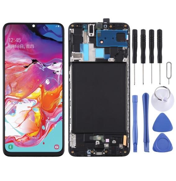 Original LCD Bildschirm mit Rahmen für Samsung Galaxy A70 SM-A705