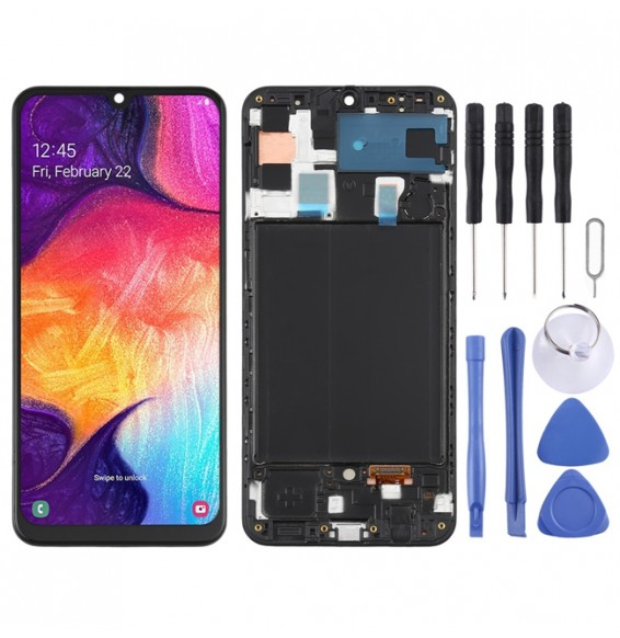 LCD Screen with frame for Samsung Galaxy A50 SM-A505 (Black)