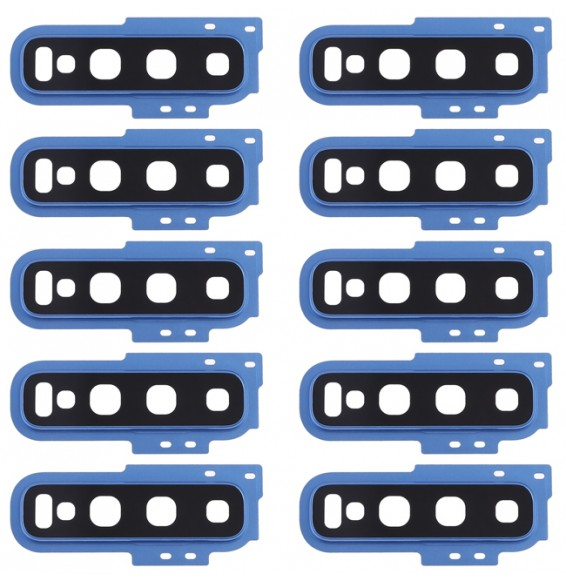 10 PCS Camera Lens Cover for Galaxy S10(Blue)