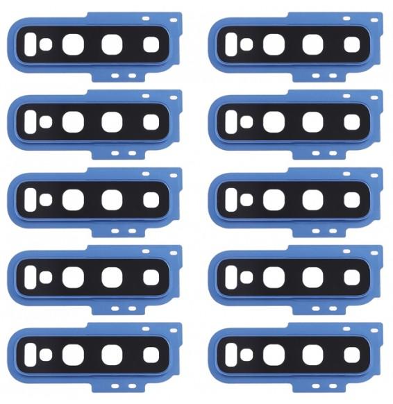 10pcs vitre caméra pour Galaxy S10 (bleu)