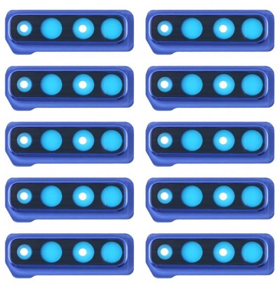10pcs vitre caméra pour Galaxy A9 (2018) A920F/DS (bleu)