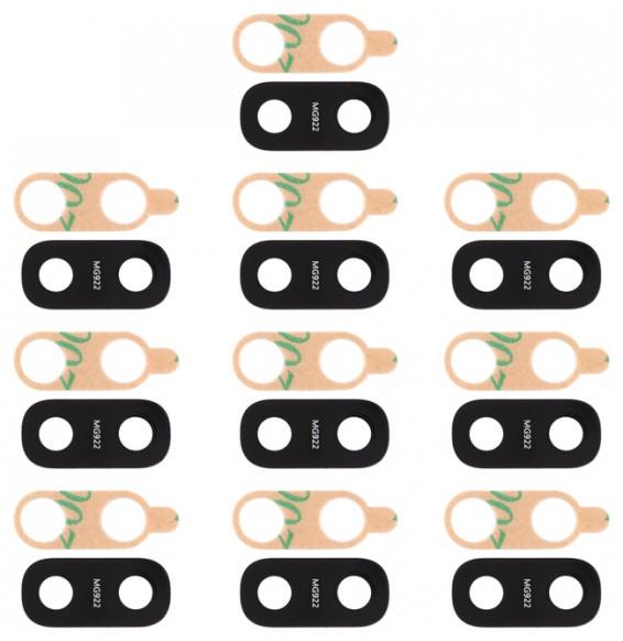 10pcs Vitre caméra arrière pour Galaxy A20 / A10 / A30 / A40