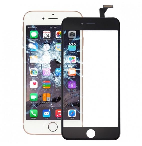 Touchscreen Glas mit OCA Filter (transparent) für iPhone 6 Plus (schwarz)